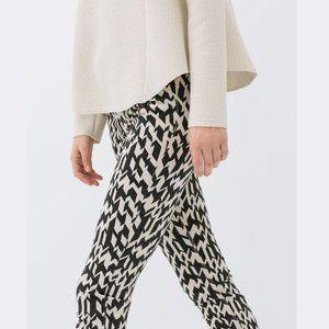 ZARA Geometric Printed Slim Fit Pants